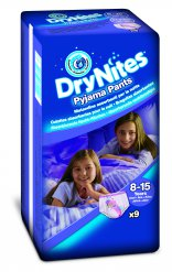 Huggies Dry Nites Large - Girls (27-57kg) - 9ks