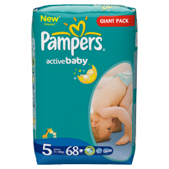 Pampers Active Baby 5 Junior (11-18kg) 68ks Giant Pack